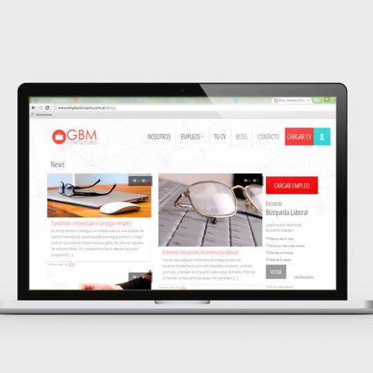 Diseño web para GBM Consultores