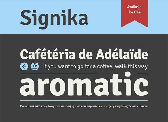 Tipografía gratis Signika