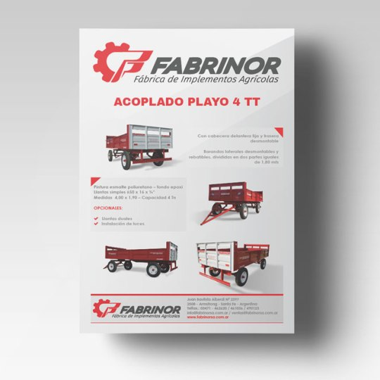 Diseño Flyer Fabrinor