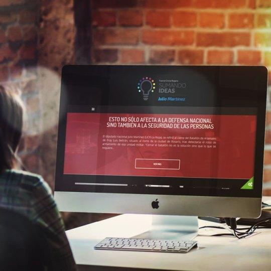 Sitio web Sumando Ideas