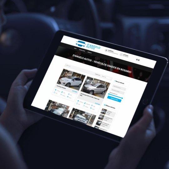 diseño web para Dangelo Autos