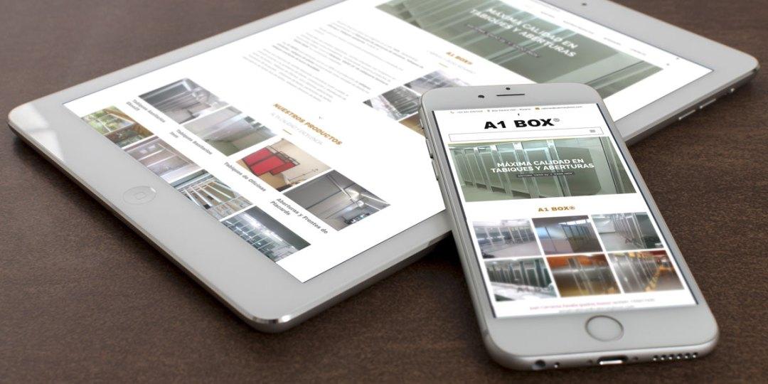 Diseño web para A1 BOX