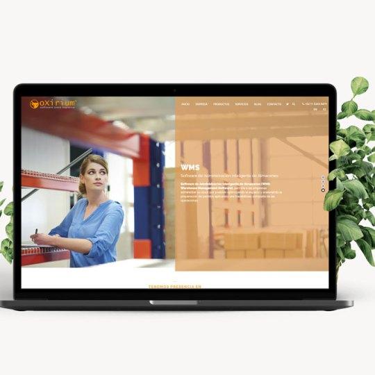 diseño de sitio web para Oxirium