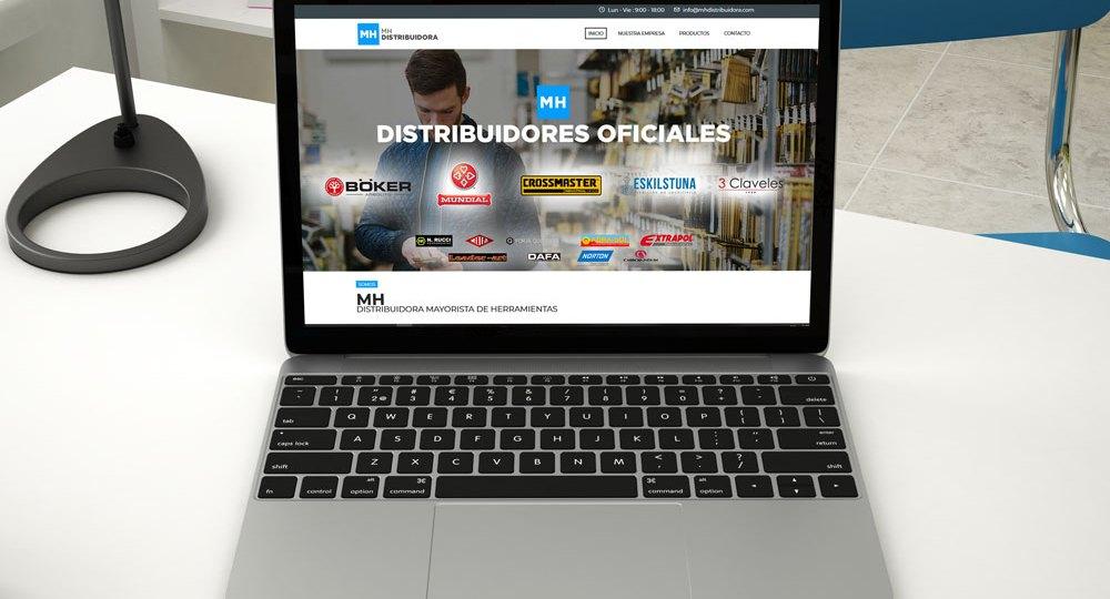 diseño web Rosario mh distribuidora