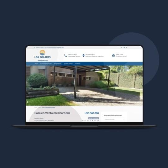 sitio web para los solares inmobiliaria