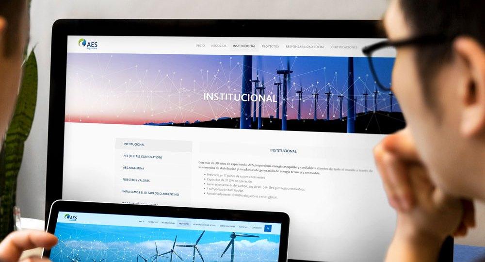 Sitio Web Aes Argentina