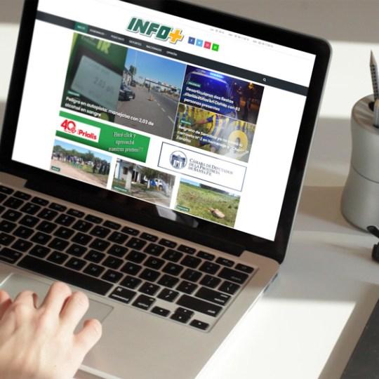 Diseño Web Sitio Noticias Infomas