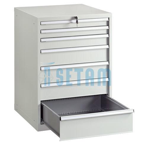 armoire metallique g avec 7 tiroirs gris ral 7035
