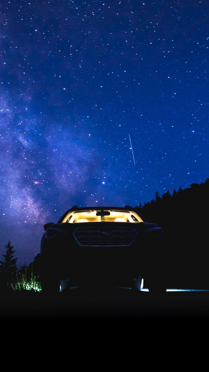 Download 720x1280 wallpaper white, honda civic type r, car,. Starry Sky Night Car Wallpaper 720x1280