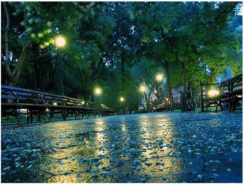 Rainy Night, Union Square, New York City