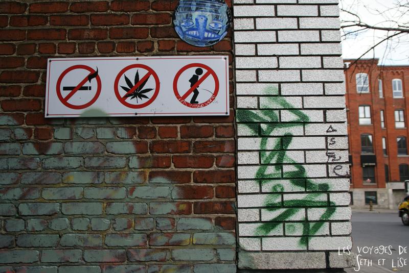 blog voyage canada montreal pvt interdiction panneau pisser fumer