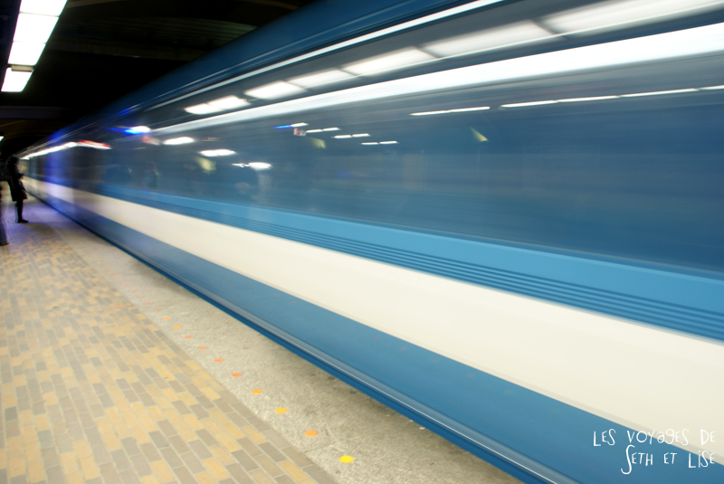 blog pvt canada montreal couple voyage metro vitesse bleu