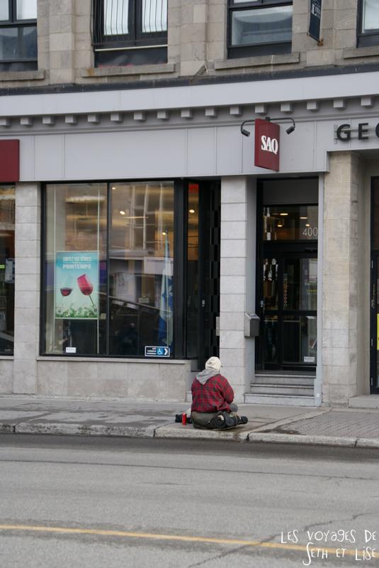 blog voyage canada montreal pvt sdf saq mendiant alcool