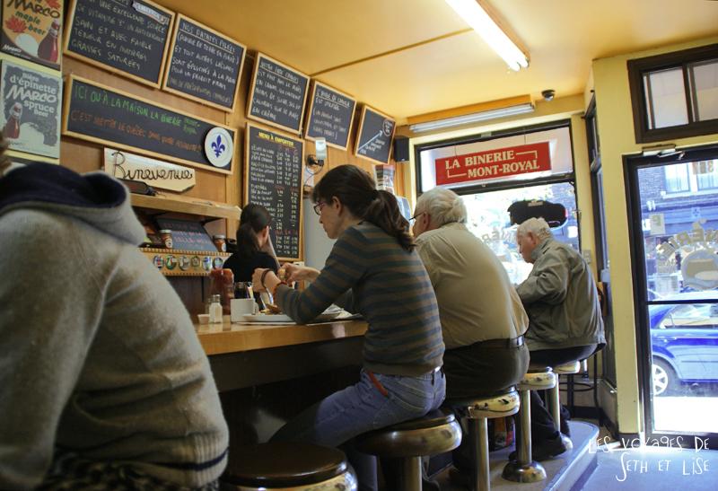 blog pvt canada photographie couple voyage binerie mont royal feve lard restaurant quebecois montreal quebec rang deco