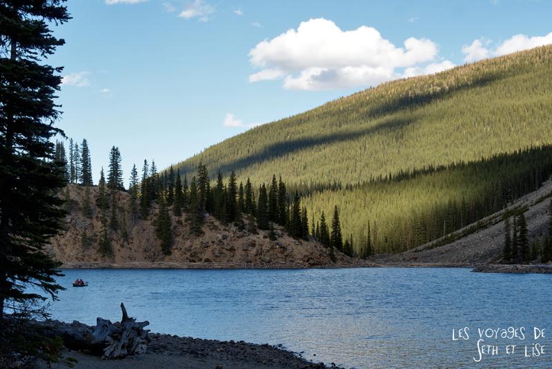 blog photogaphie pvt pvtiste canada alberta rocheuses montagne couple voyage tour du monde paysage nature lac lake moraine south sud