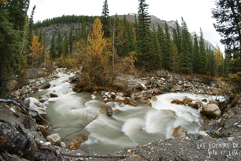 blog pvt photographie pvtiste canada alberta rocheuses rockies moutains voyage montagne couple tour du monde nature parc national lac lake waterfall