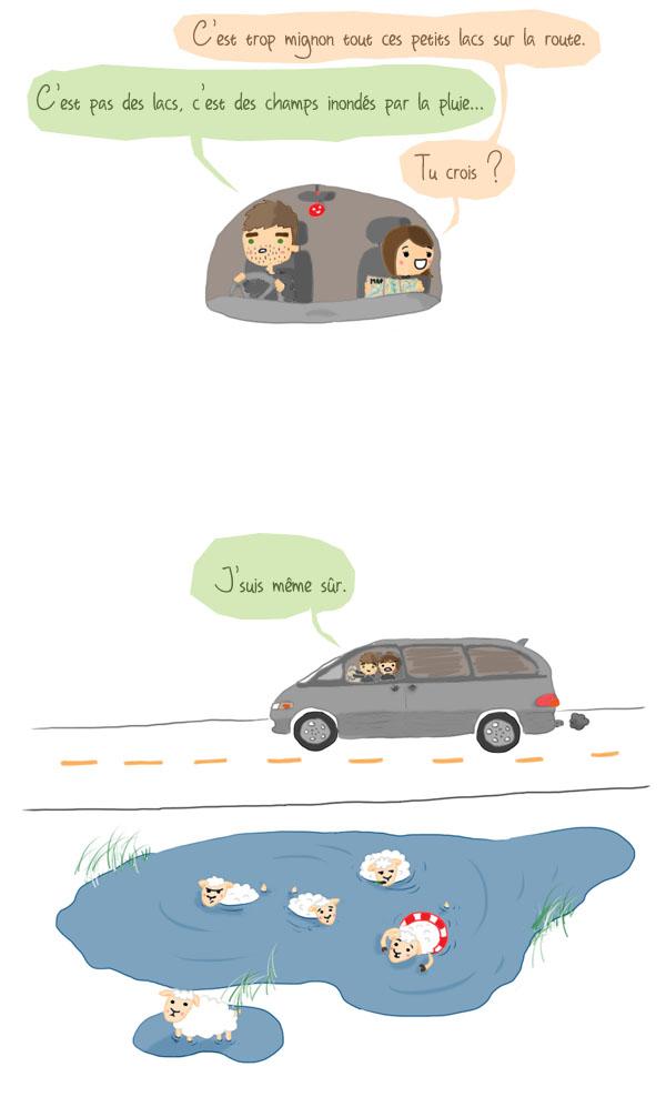 blog bd humour nouvelle zelande voyage seth lise pluie