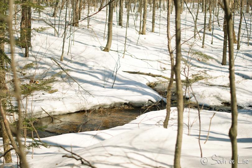 neige riviere