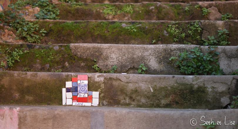 mosaic stairs