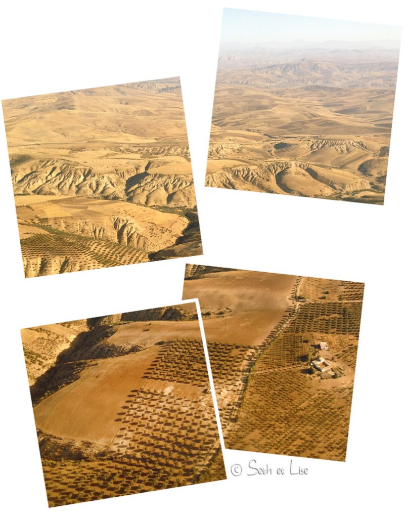 montagnes rif maroc avion