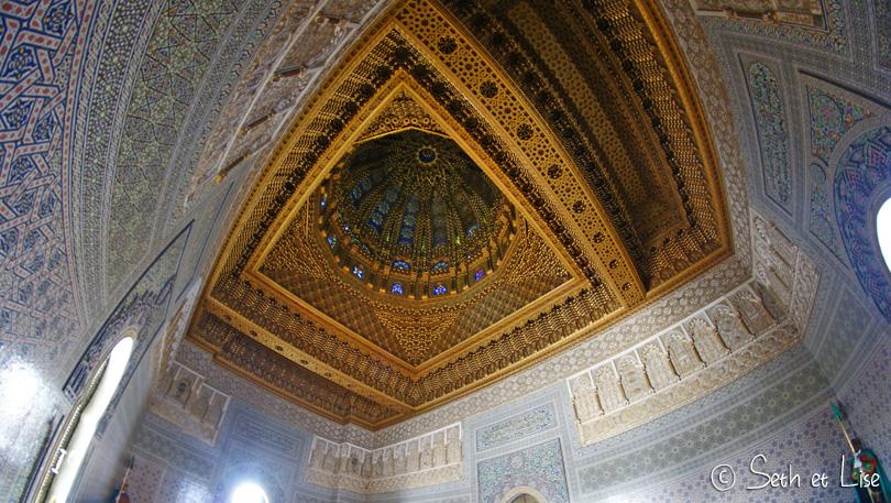 toit du mausolée Mohammed V à Rabac