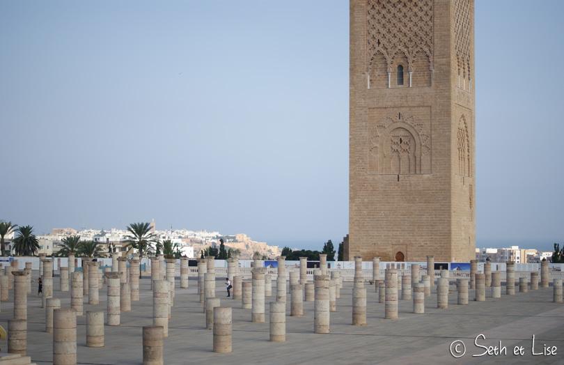 mosquee et colonnes hassan rabat