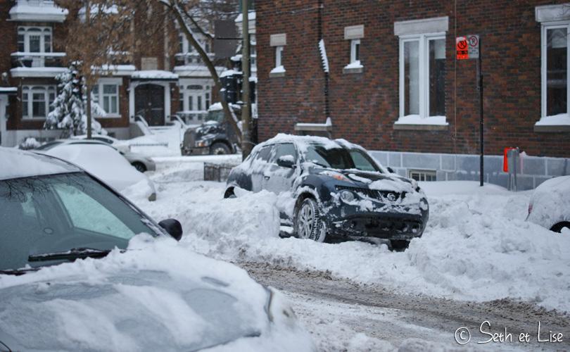 parking neige montreal
