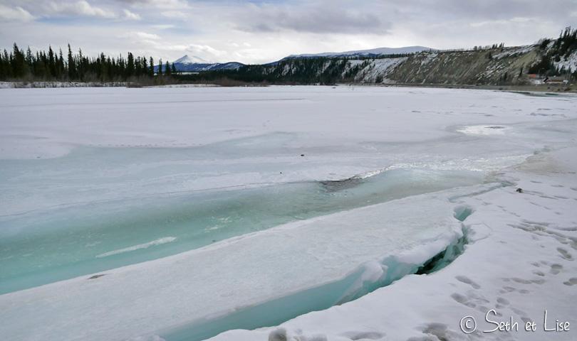 frozen yukon river