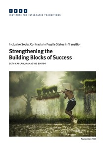 Social Contract Formation in Fragile States: Strengthening Building Blocks of Success