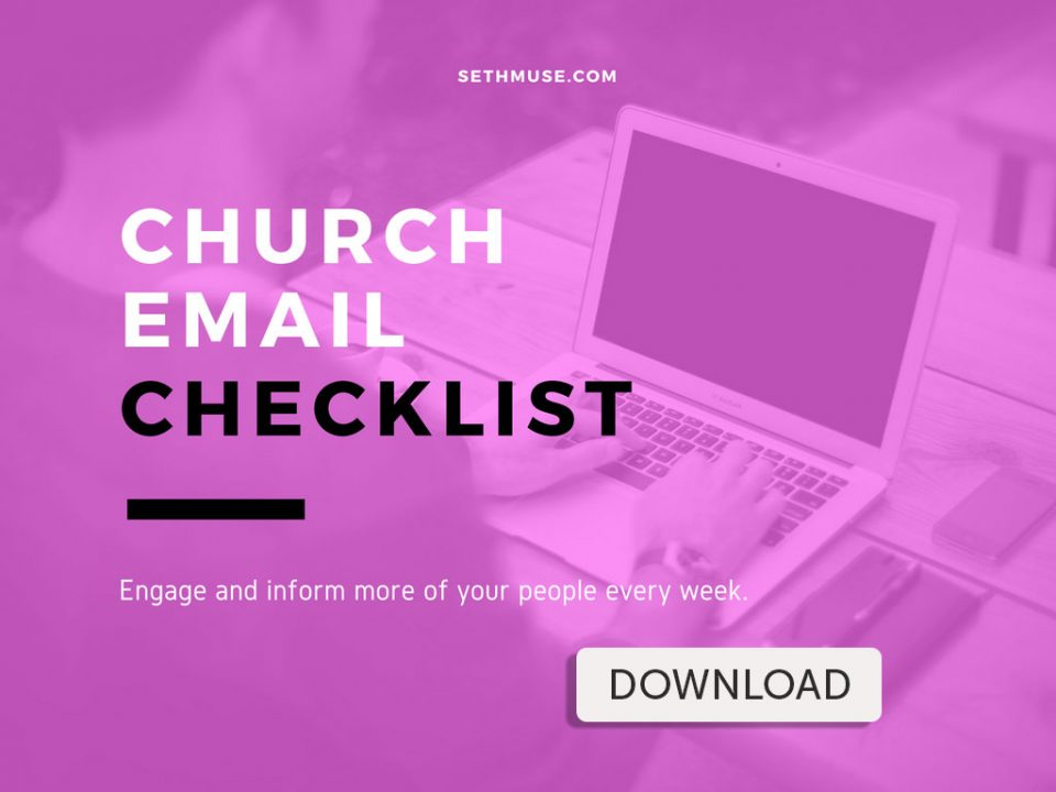 Church Email Checklist