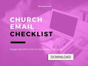 writing church emails that get opened checklist