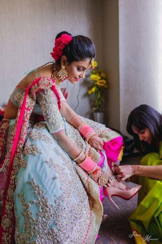 bridal lehenga with choora