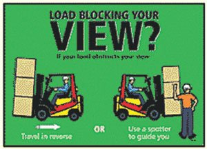 forklift safety training poster load blocking your view poster