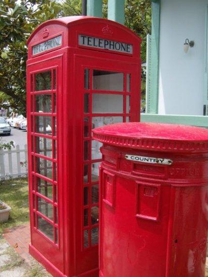Shikoku Mura - British Public Phone and Mailbox