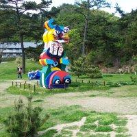 Karel Appel's Frog and Cat on Naoshima
