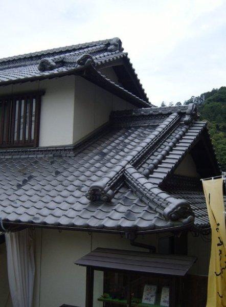 Traditional Japanese Roofs in Kotohira, Shikoku