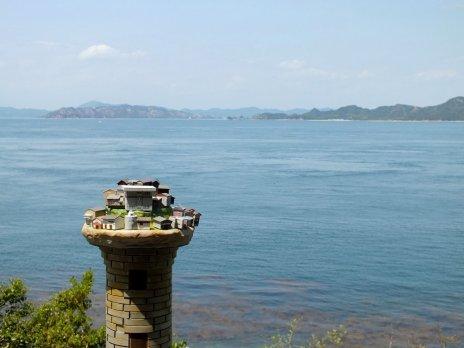 Near the lighthouse.