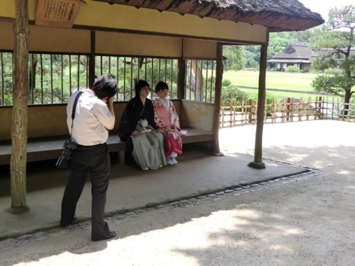 Bride and Groom in Korakuen - 2