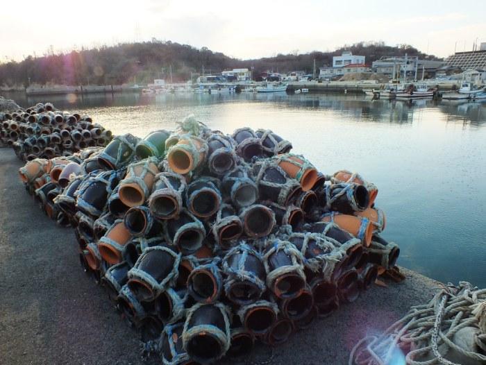 Octopus traps on Megijima