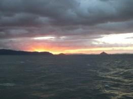 Sunset over the Seto Inland Sea and the Great Seto Bridge - 3