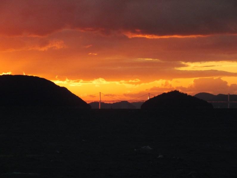Sunset over the Seto Inland Sea and the Great Seto Bridge - 4