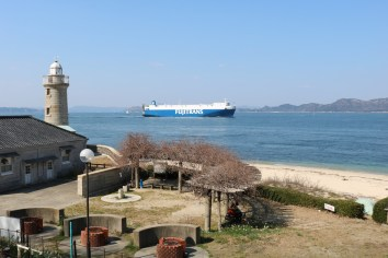 There are some very big boats on the Seto Inland Sea