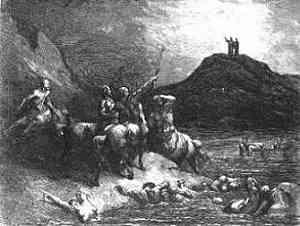... Centauros, armados con flechas ...