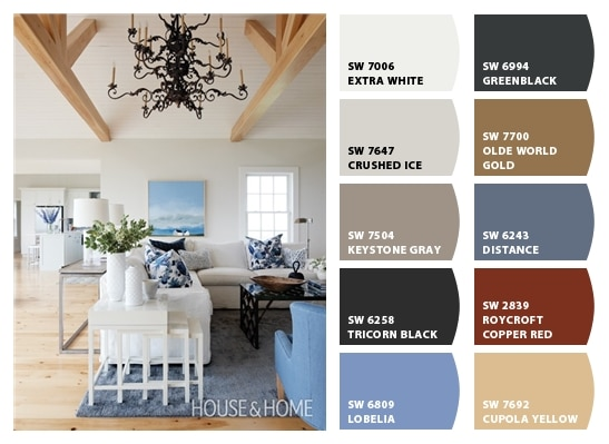 Nice Blue Grey And White Living Room Color Palette Setting For Four Part 30