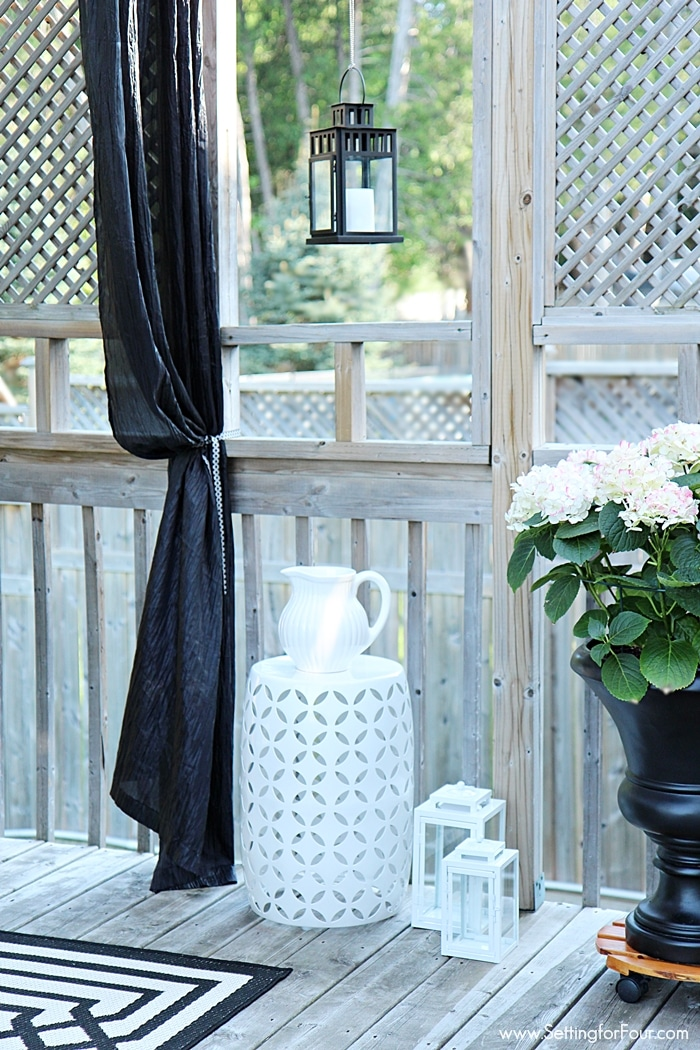Decorating with Lanterns   Outdoor and Indoor Ideas   Setting for Four How to decorate with lanterns indoors and outdoors  Lanterns look amazing  hung outside