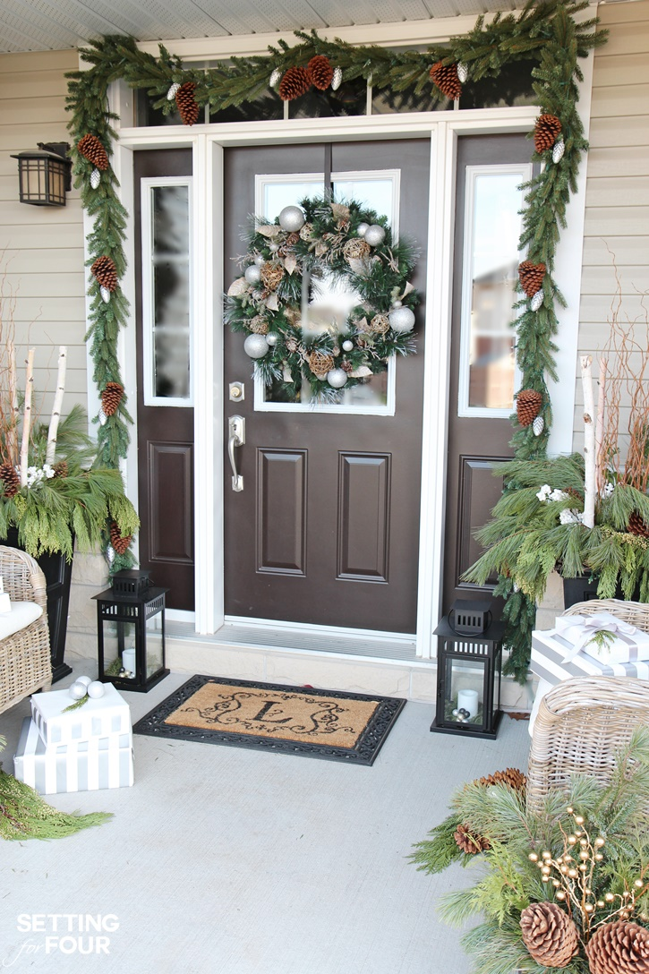 Holiday Cheer Outdoor Christmas Decorations - Setting for Four on Lawn Decorating Ideas id=20799