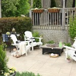 Simple Summer Fire Pit Seating Area Setting For Four