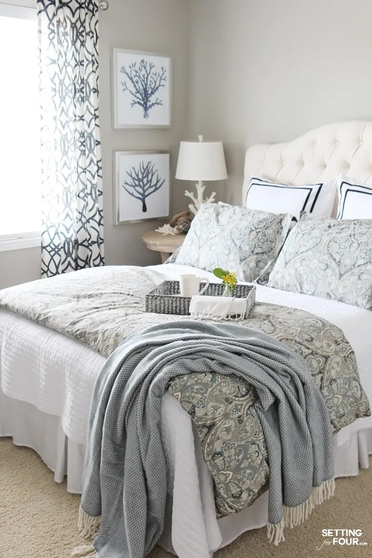 guest bedroom makeover and paint colors
