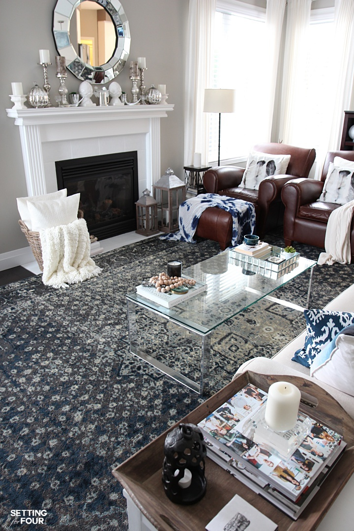 An Indigo Blue Color Scheme For Our Living Room Setting