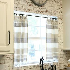 DIY Dishtowel Curtains